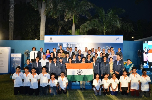Indian Team Flag off to ISEF 2015