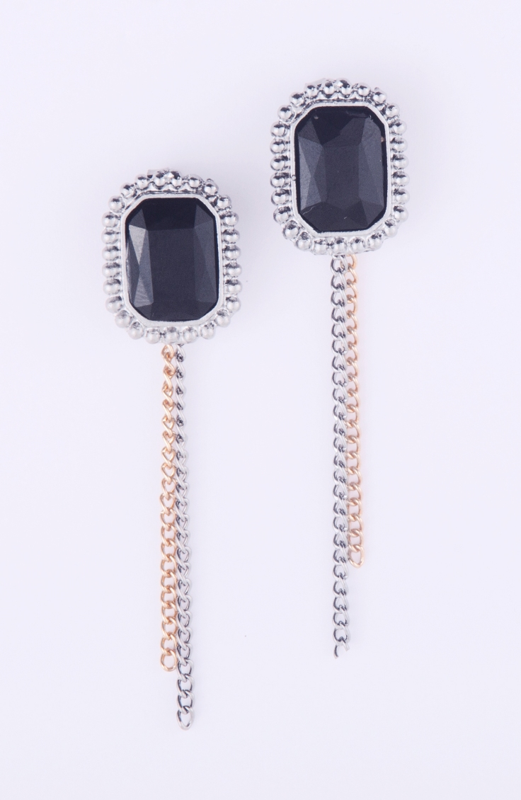 black stone studded ear jackets Rs 598
