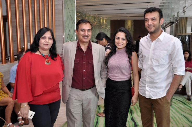 (L to R)Sangeeta Dhawan, Kuldeep Dhawan, Tamana and Rafi Pasha