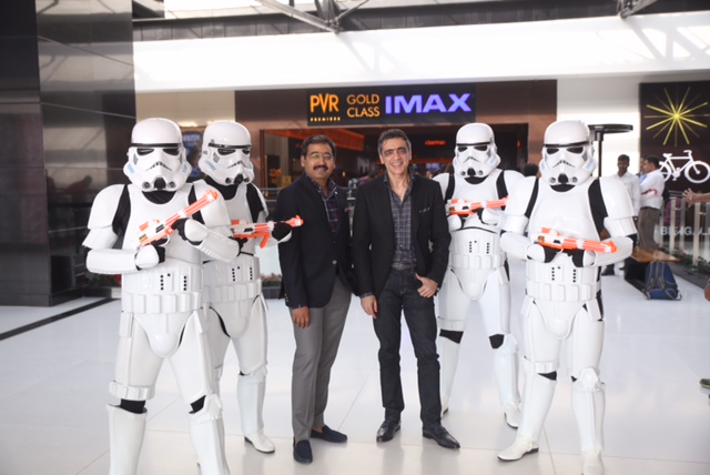 Mr  Gautam Dutta CEO Mr  Ajay Bijli Chairman  MDPVR brings the IMAX magic and its biggest Gold Class at VR Bengaluru Whitefield