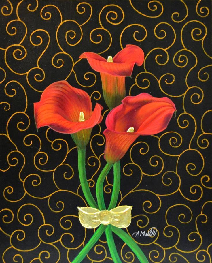 Molten Gold Calla Lilies