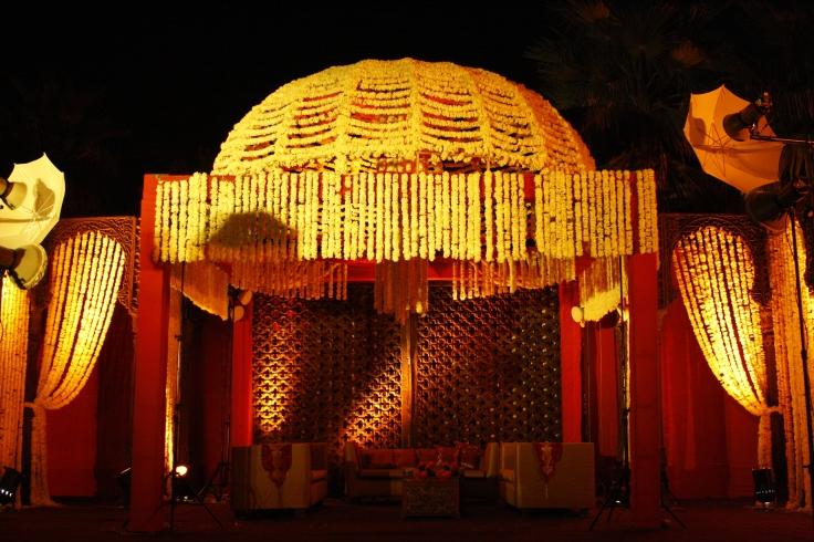 1. Dome shape mandap