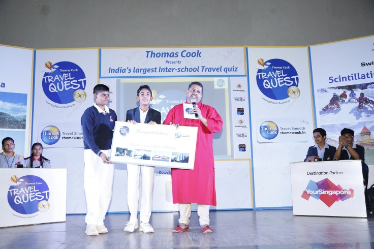 Bangalore City Winners- Master Siddharth Parmar & Master Rithik Anand from BGS National Public School are the Thomas Cook Bangalore Edition winners and also win a trip to Malaysia