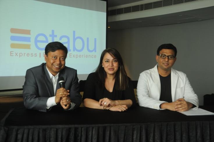 (L-R) Mr. Krish Datta, Director, Ms. Sunita Kaur, Advisor and Mr. Madhukar, Founder and CTo of Etabu - 2