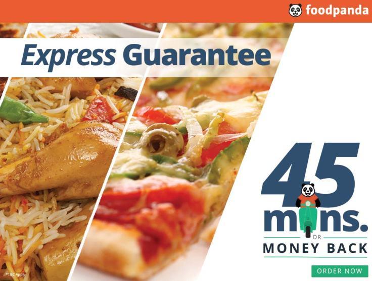 foodpanda express gaurantee service