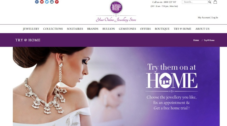 Glimpse of your online jewellery store  @ www.whp.net.in