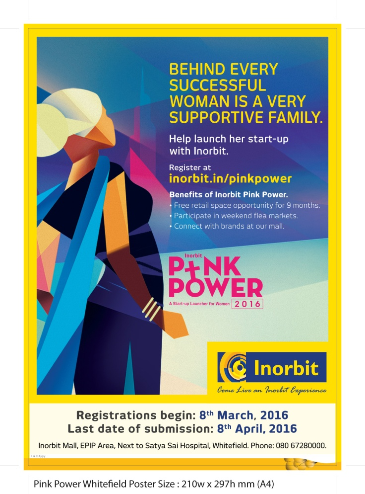 Pink Power Whitefield Poster A4-01-2