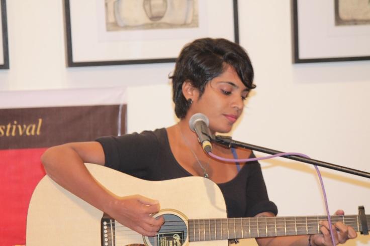 singer Alisha Pais performing