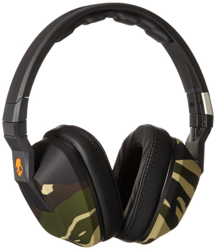Skullcandy S6SCGY-366 Crusher Over the Ear Headset with Mic Camo Orange