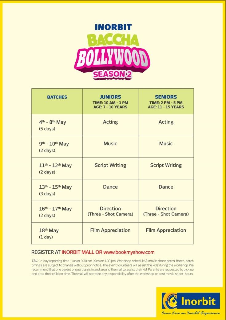 Bchha bollywood a5 leaflet back Vadodar Banglore cyberabad