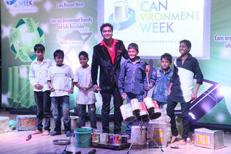 Mahendra Bhatt (India's Got Talent Runners Up) training the rag-picker's children from a Delhi school