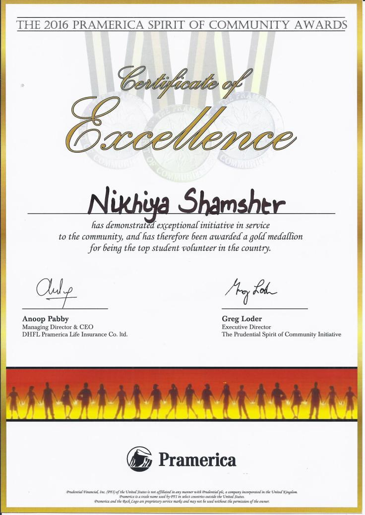 Photo 2 - Certificate of Excellence