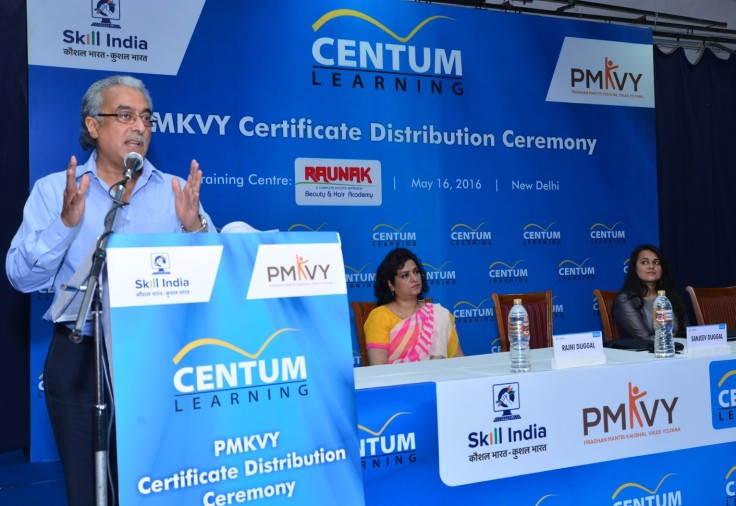 Centum Learning PMKVY Certification ceremony 1