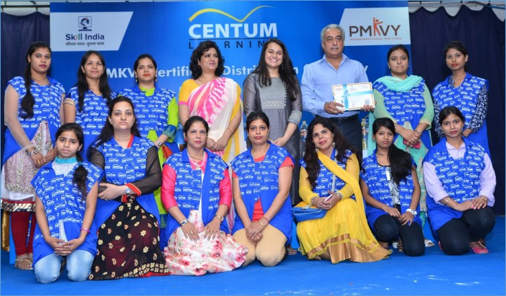 Centum Learning PMKVY Certification ceremony (2)