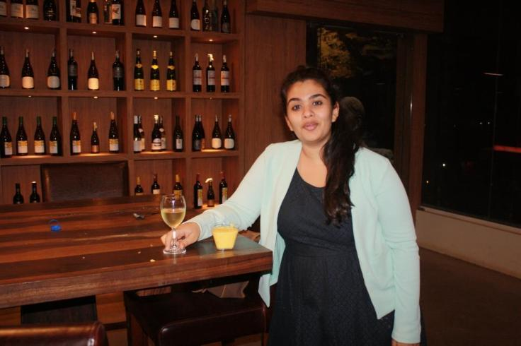 Chef Tanvi Chandran with Kulfi falooda with jelly and custard with  Sula Late Harvest Chenin