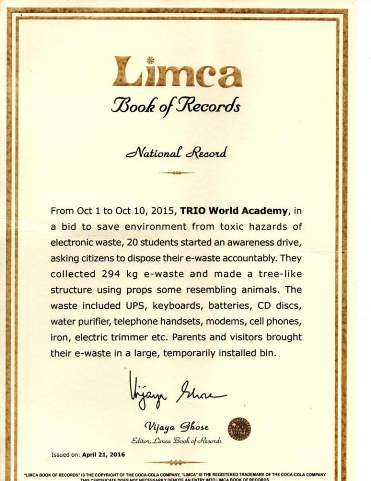 Limca Certificate