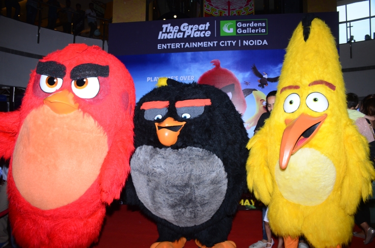 angry birds red,yellow ,black