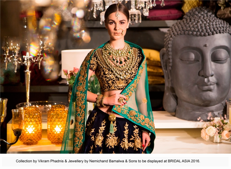Collection by Vikram Phadnis & Jewellery by Nemichand Bamalwa & Sons to be displayed at BRIDAL ASIA 2016