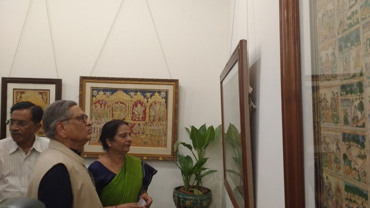 Former External Affairs Minister SM Krishna at Mysore art exhibition hosted by Mrs Prabha Mallesh (2)
