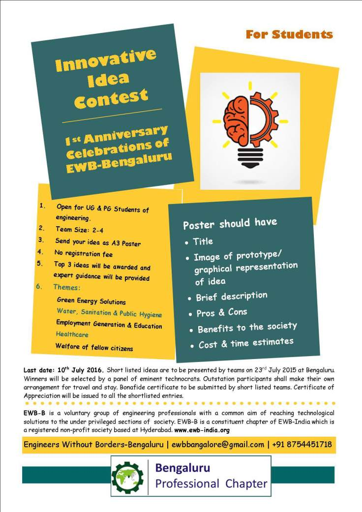Innovative Idea Contest poster