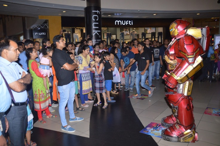 Iron man with Fans