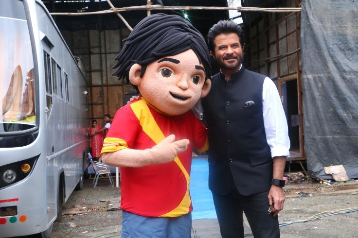 Anil Kapoor with toon shiva
