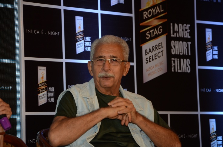 Naseeruddin Shah at the launch of Royal Stag Barrel Select Large  Sort Films' Interior Cafe - Night