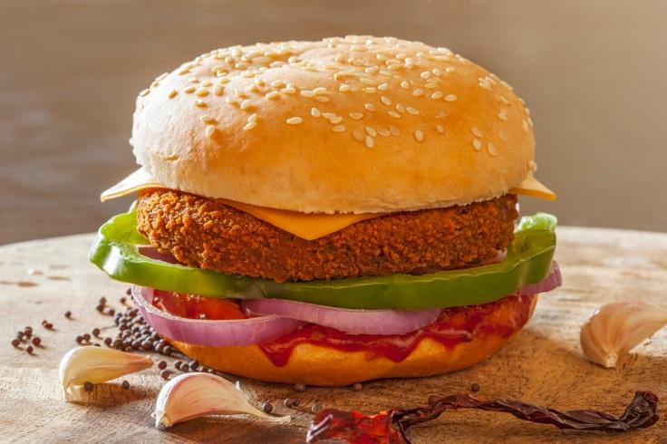 Spicy Mix Veg Burger