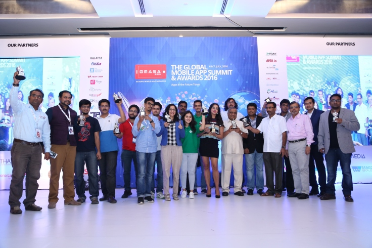 Winners of GMASA 2016 with C R Venkatesh