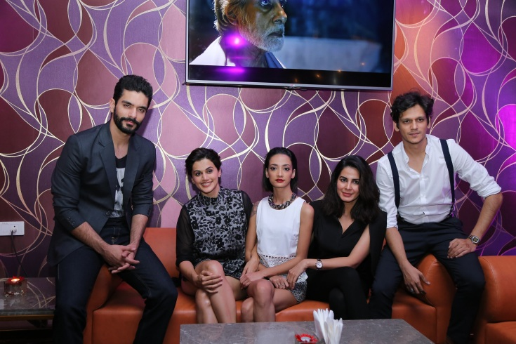 star-cast-of-pink-movie-at-the-opening-of-iq-the-lounge-bar-at-mercure-hyderabad-kcp1